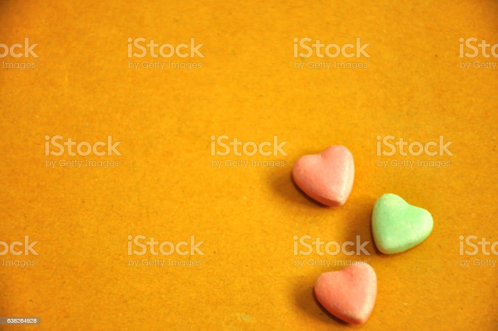 Colorful Valentines Day background with hearts stock photo