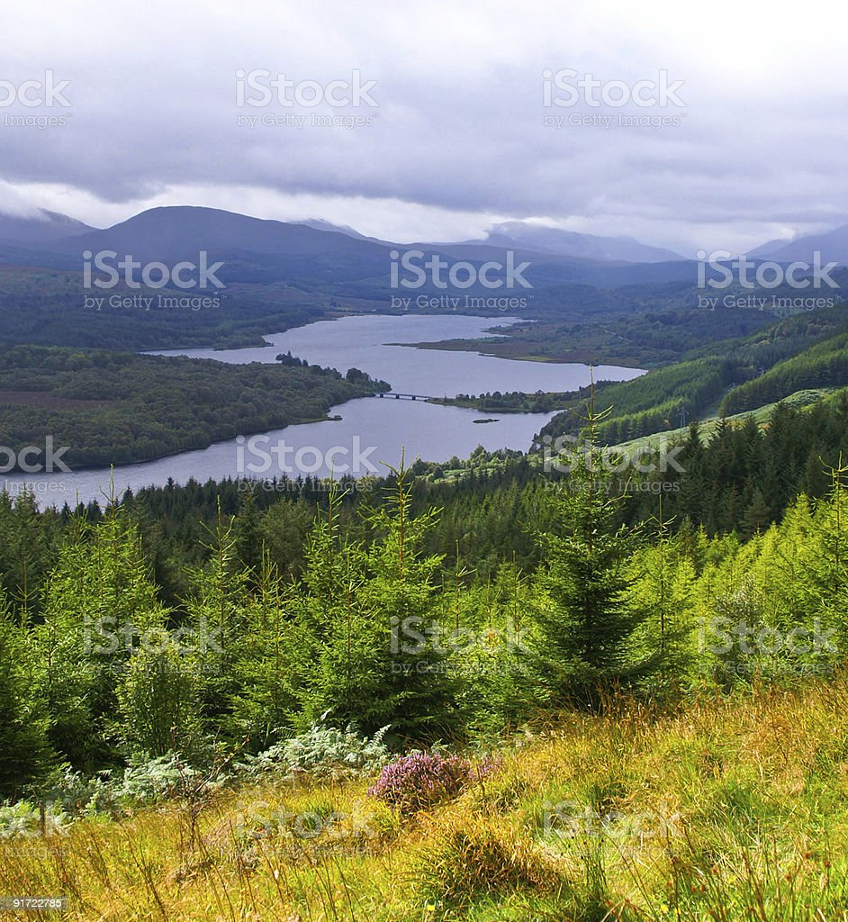 colorful valley stock photo