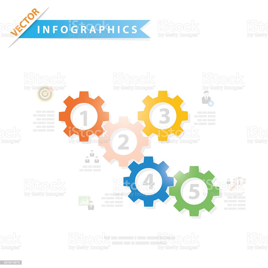 Colorful vector design for workflow layout stock photo