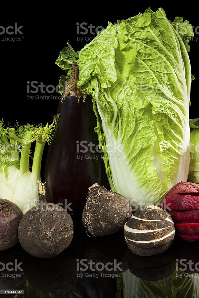 Colorful vegetable still life. royalty-free stock photo
