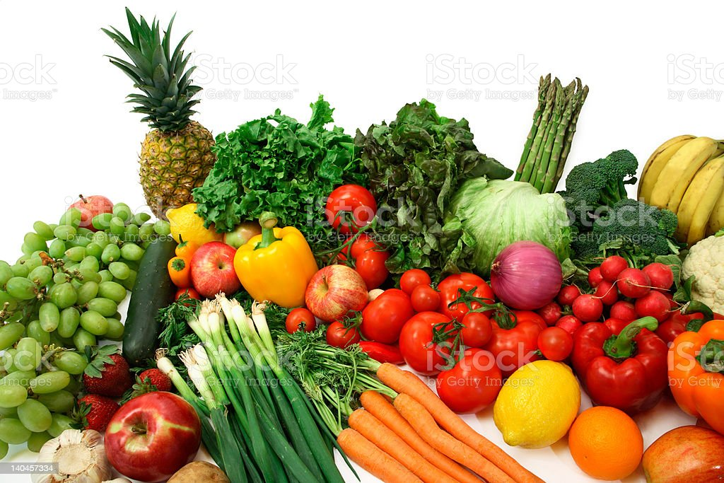 Colorful Vegetables and Fruits royalty-free stock photo