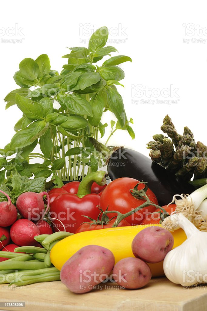 Colorful Vegetables Many Colors Healthy Eating Close Up royalty-free stock photo