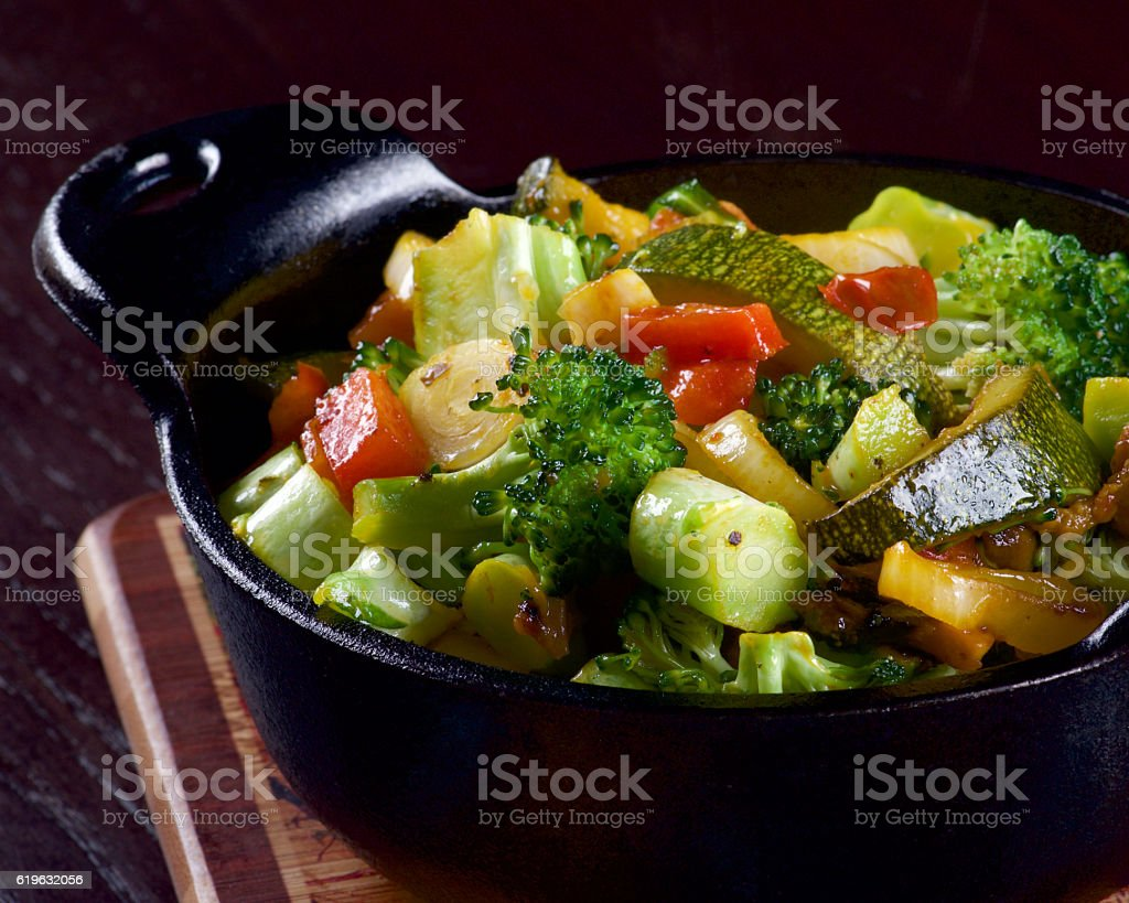 Colorful Vegetables Ragout stock photo