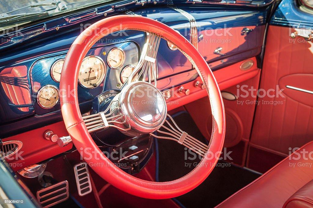 colorful vehicle interior stock photo