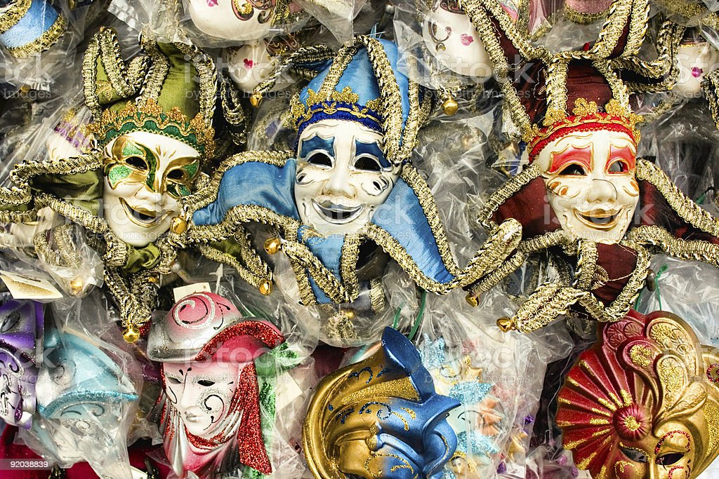 Colorful Venice carnival masks. royalty-free stock photo