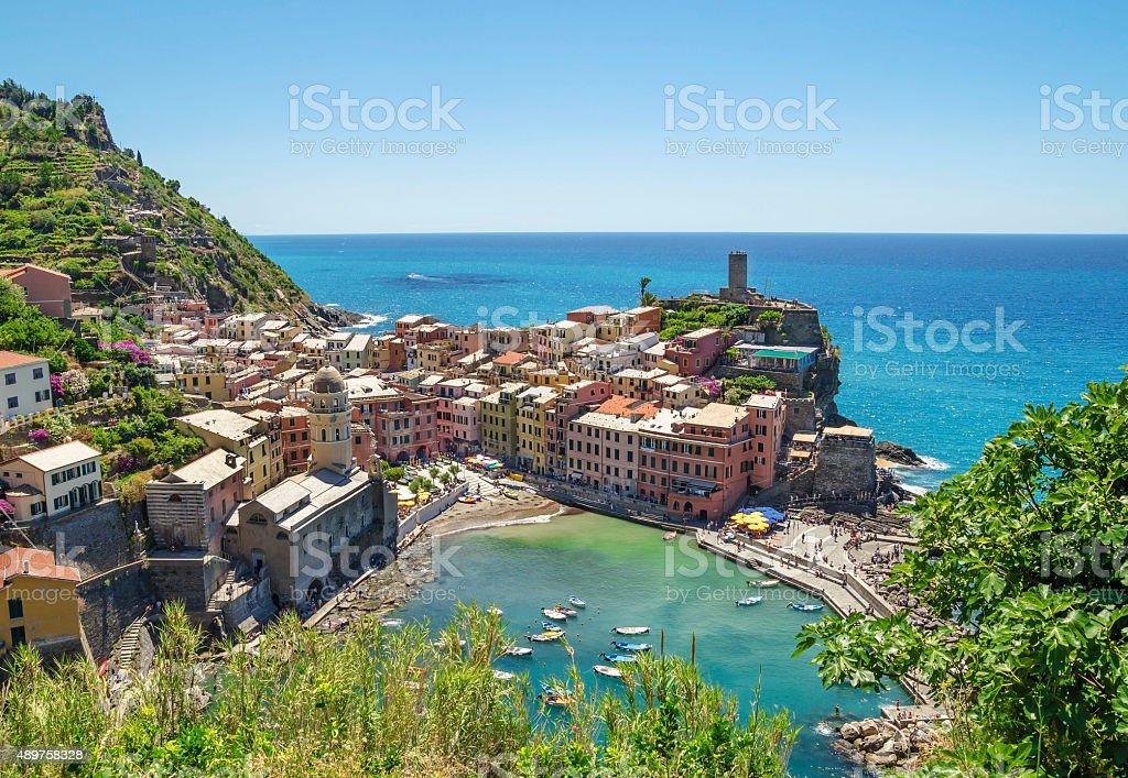 Colorful Vernazza , Cinque Terre, Italy stock photo