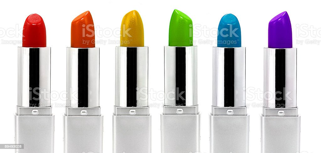 A colorful vibrant lipstick banner royalty-free stock photo