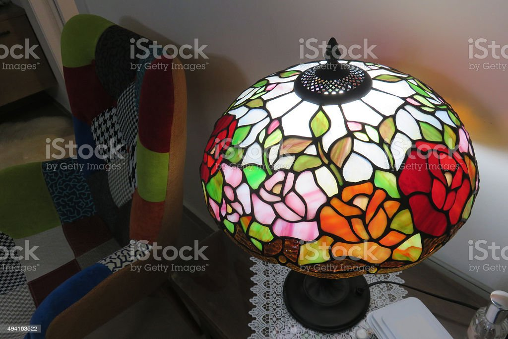 Colorful vintage Lamp stock photo