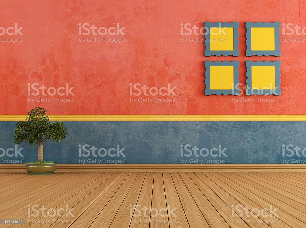 Colorful vintage room royalty-free stock photo