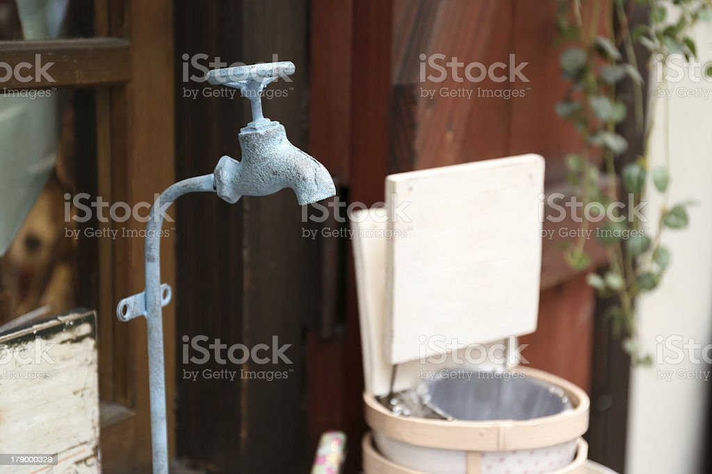 Colorful vintage water tap royalty-free stock photo