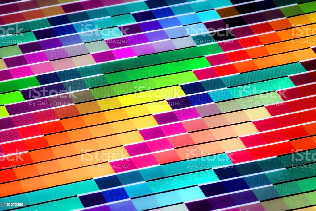 Colorful Vivid CMYK Color Chart for Printing Purposes royalty-free stock photo