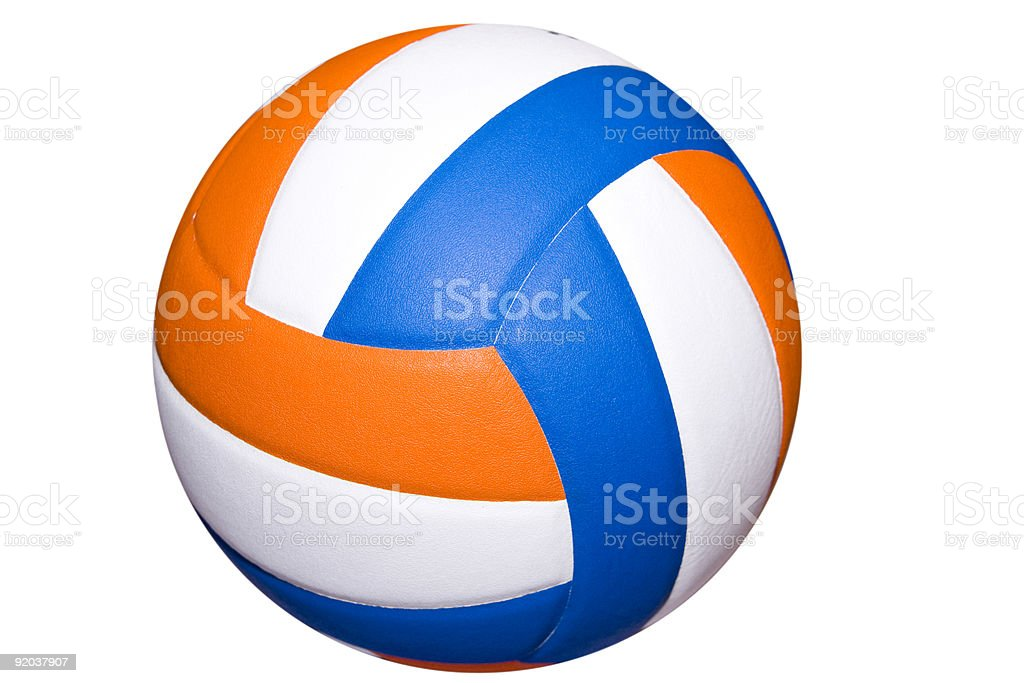 colorful volleyball royalty-free stock photo