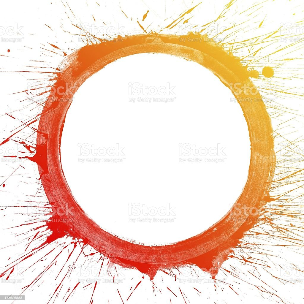 Colorful Water Color splash on circle royalty-free stock photo