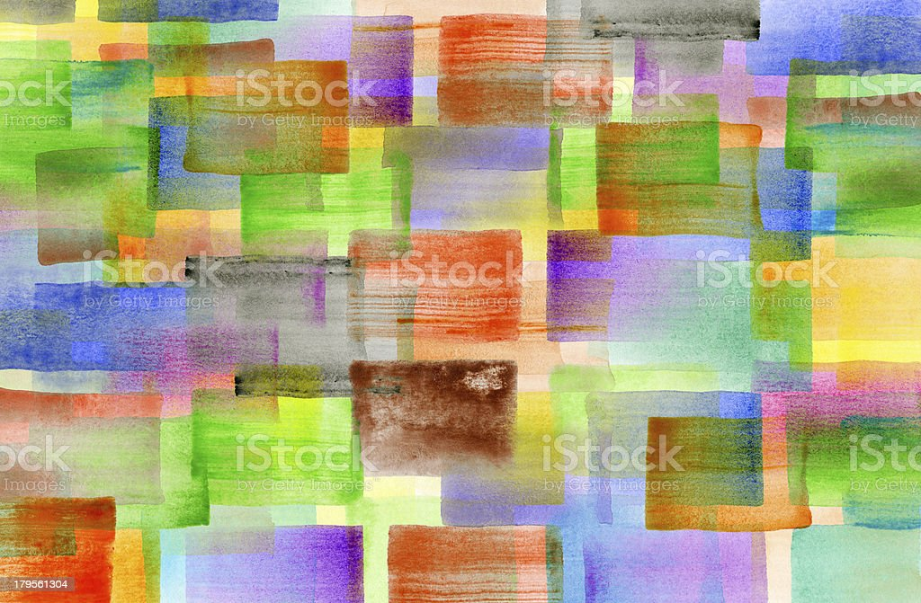 Colorful watercolor designed art,mosaic background royalty-free stock photo