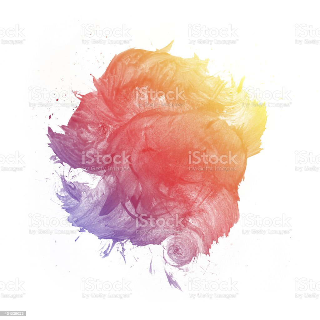 Colorful watercolor painting background stock photo