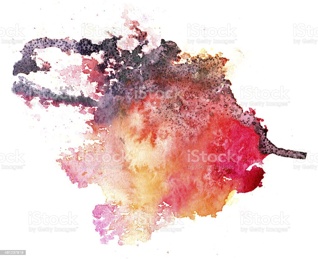 colorful watercolor splash white background stock photo