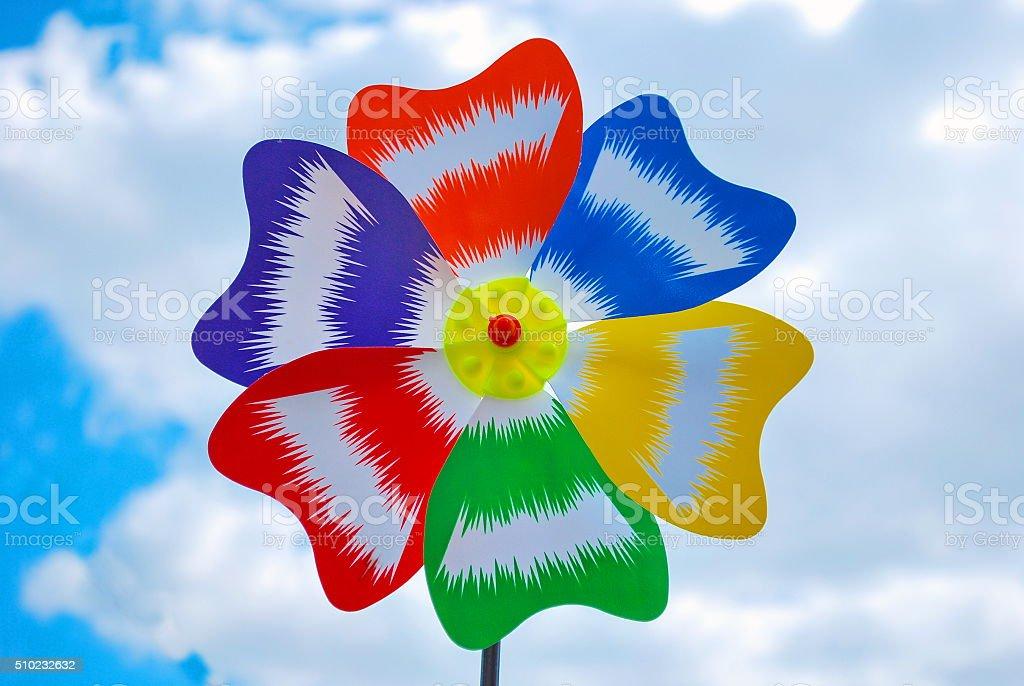 colorful weather vane stock photo