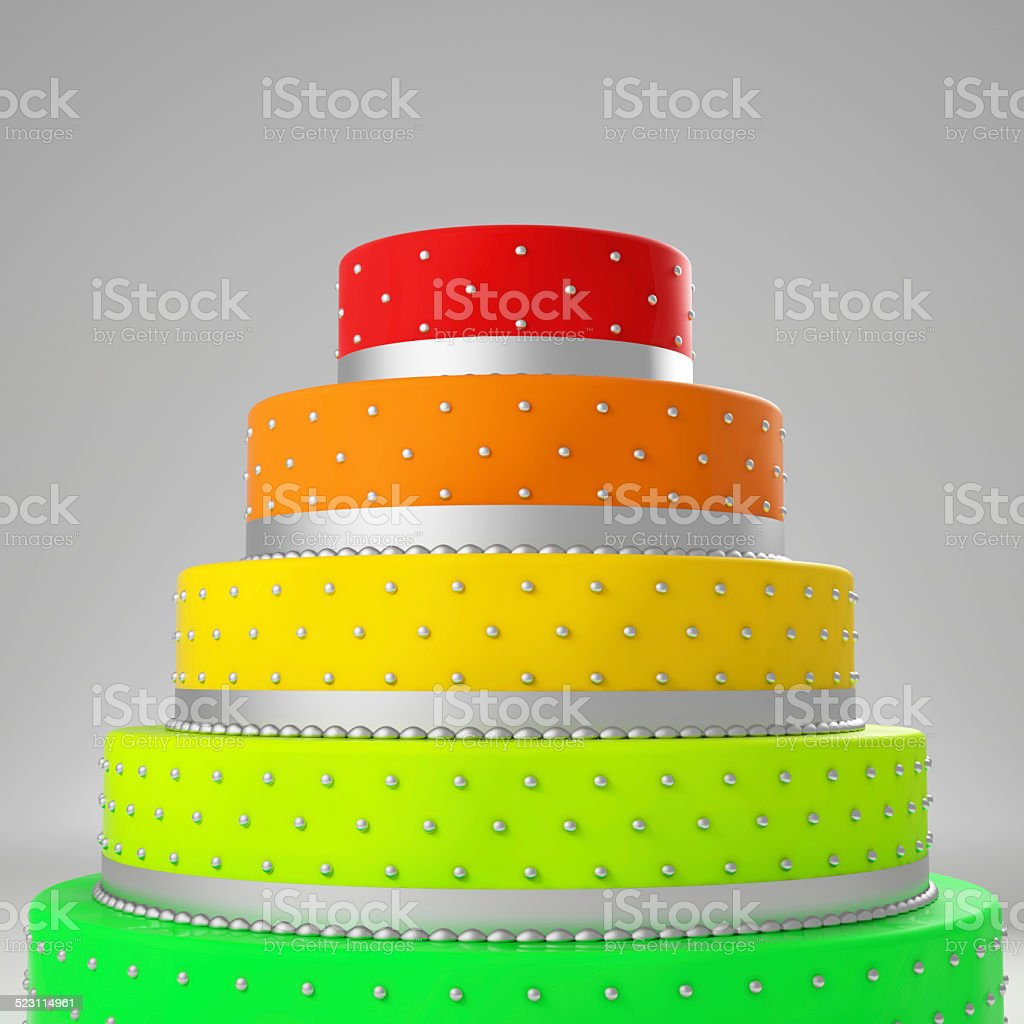 colorful wedding cake stock photo