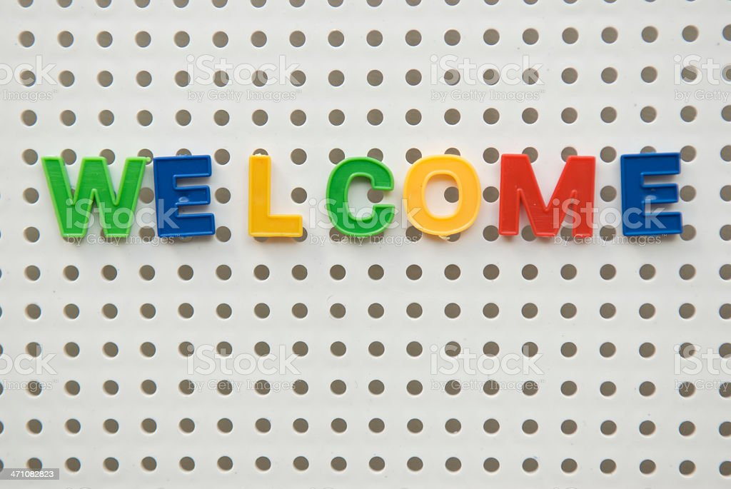 Colorful Welcome Sign royalty-free stock photo