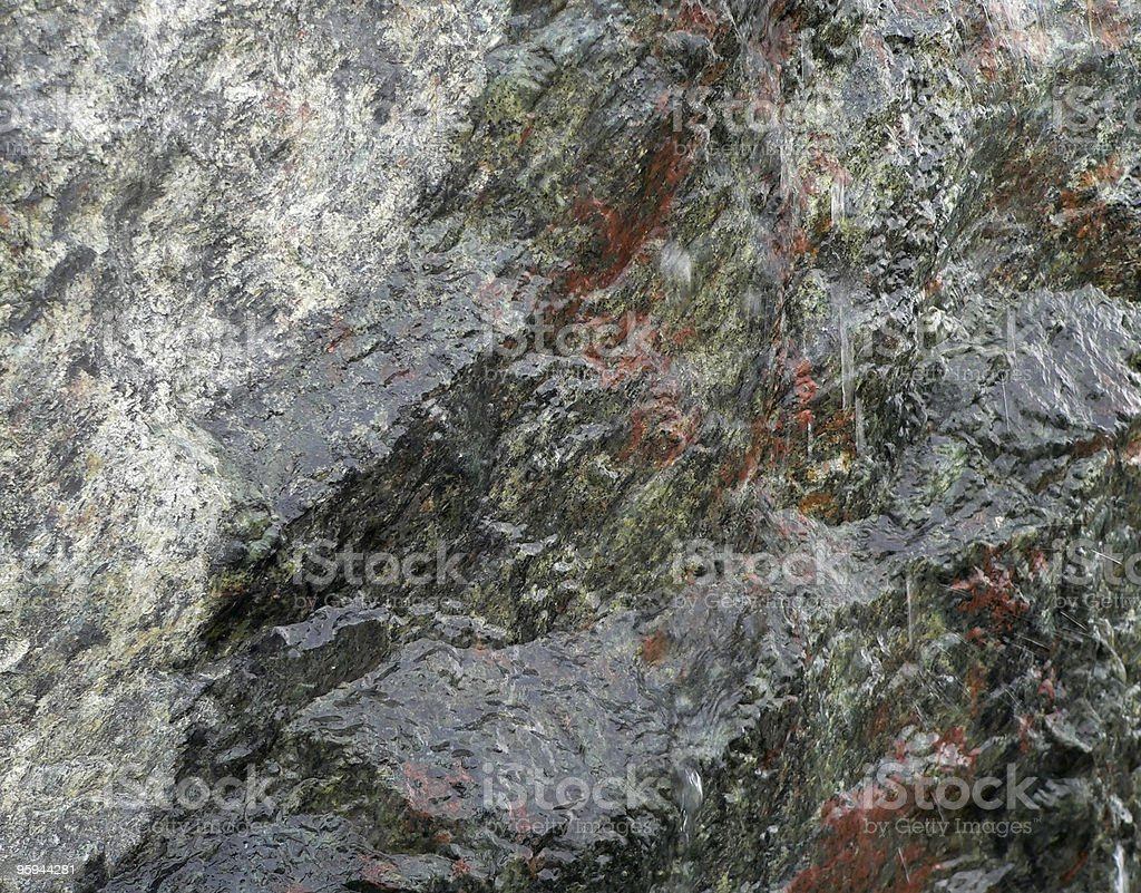 colorful wet stone surface royalty-free stock photo