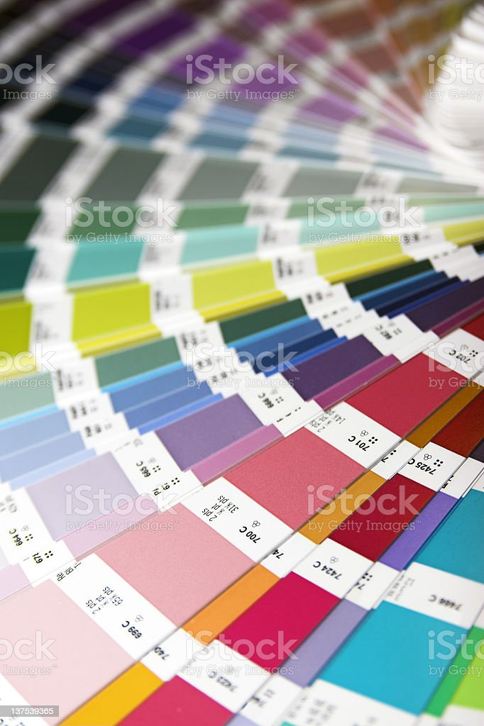 Colorful wheel of paint swatches stock photo