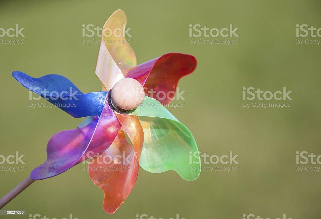 colorful wind rose (pinwheel) royalty-free stock photo