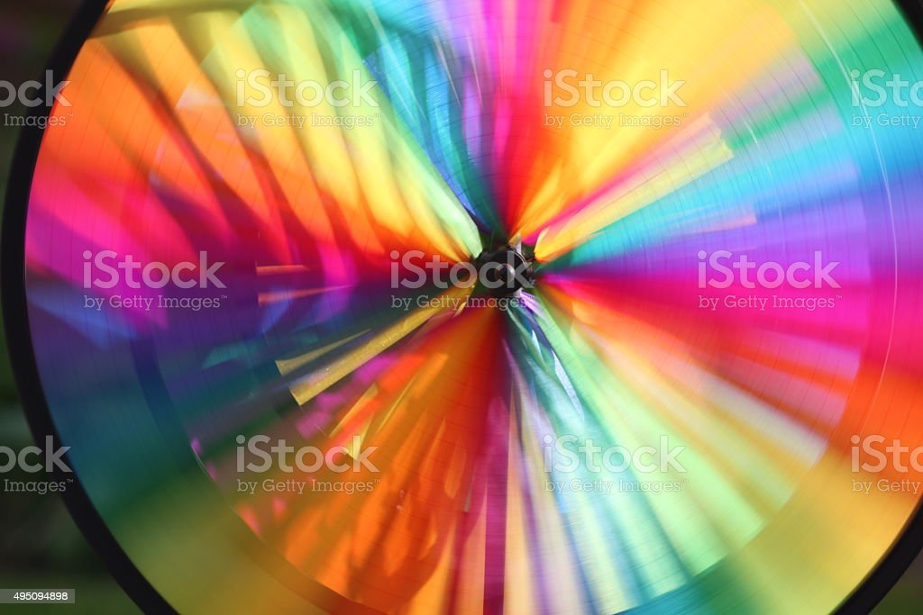 Colorful wind wheel stock photo