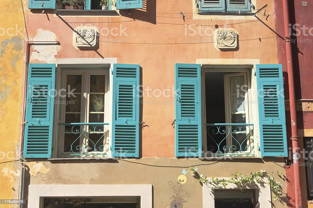 색상화 창을 니체, 프랑스 royalty-free 스톡 사진