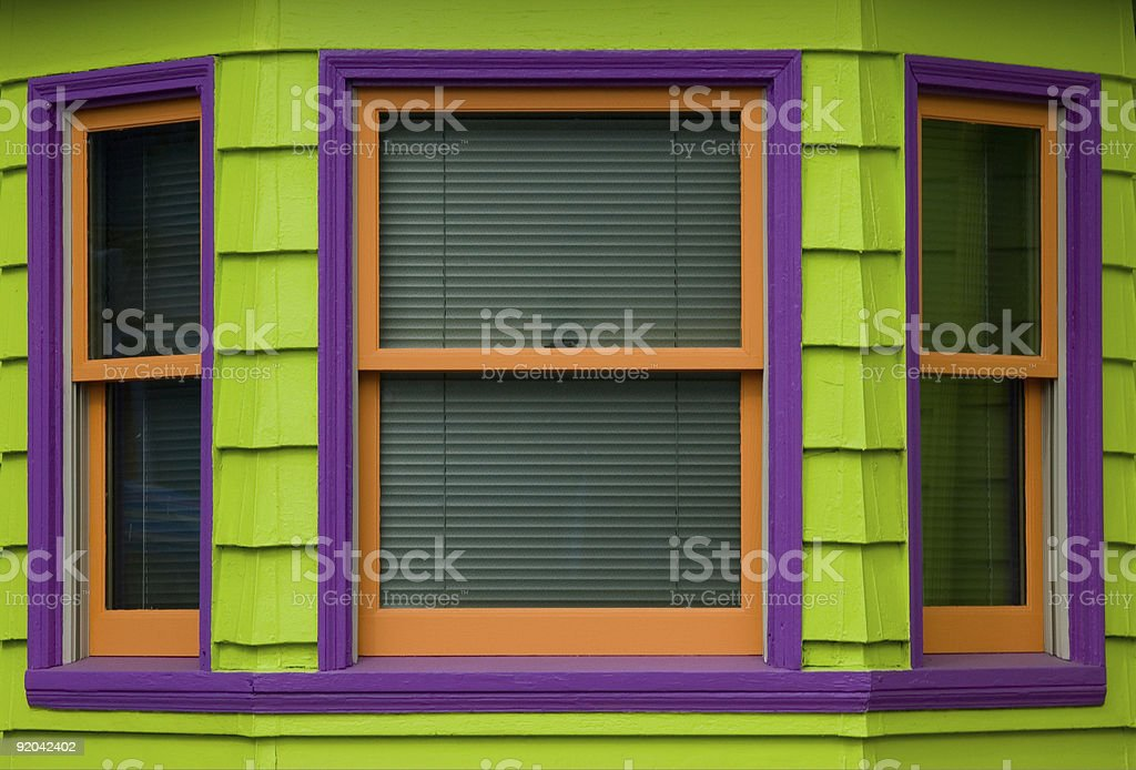 Colorful Windows royalty-free stock photo