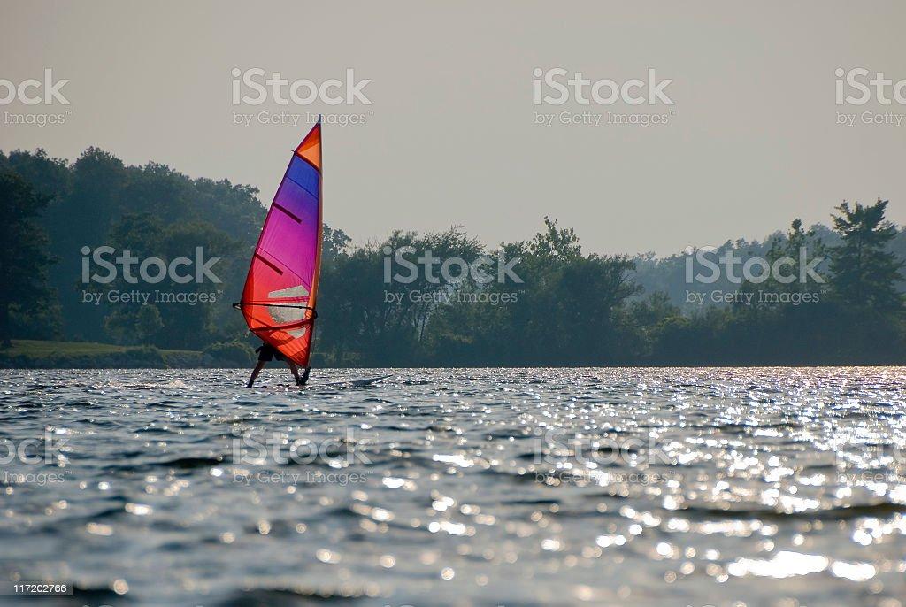 Colorful Windsurfer stock photo