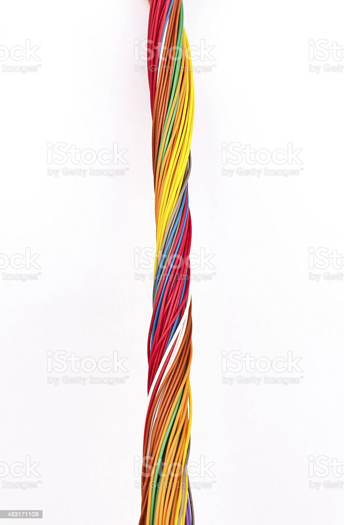 colorful wire isolated on white stock photo