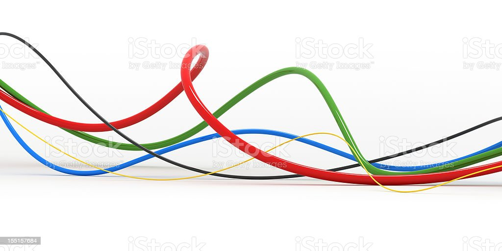 Colorful Wires royalty-free stock photo
