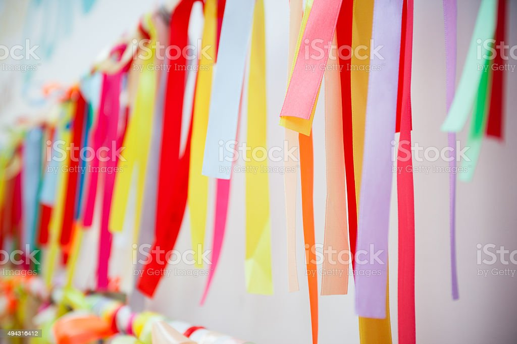 Colorful Wish Ribbons stock photo