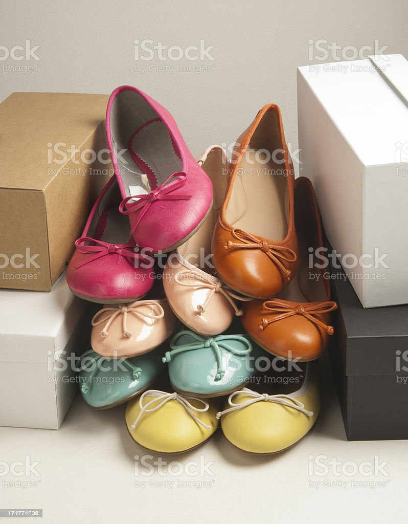 colorful women's shoes stock photo