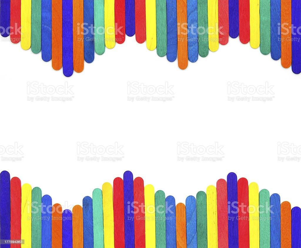 colorful wood ice-cream stick royalty-free stock photo