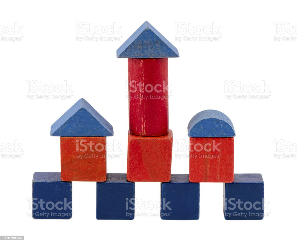 colorful wood toy block brick construction white royalty-free stock photo