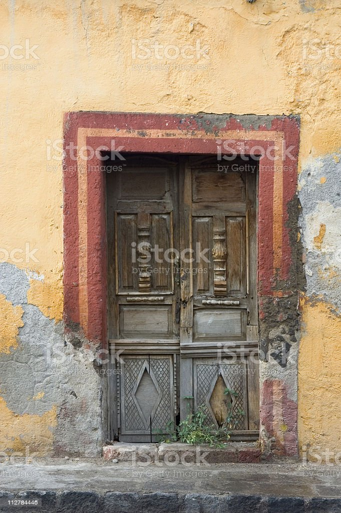Colorful wooden door royalty-free stock photo