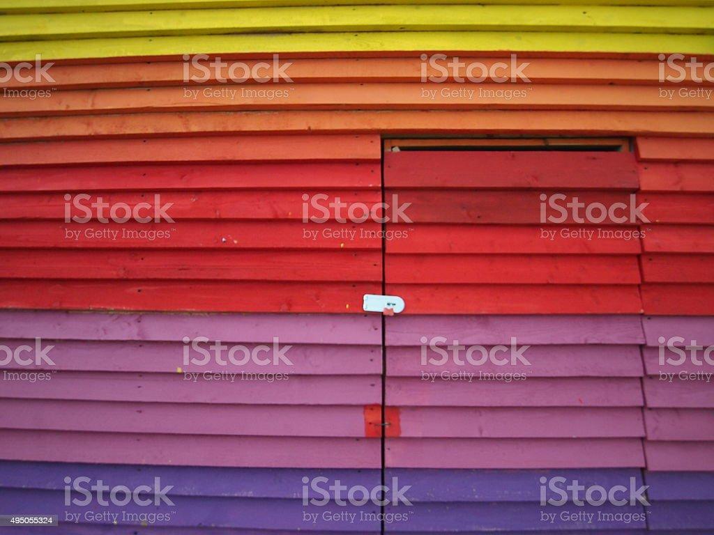 Colorful wooden door stock photo
