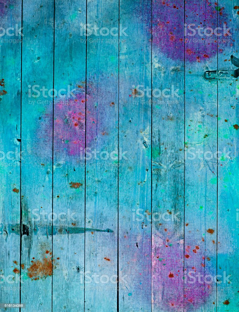 Colorful Wooden Planks stock photo