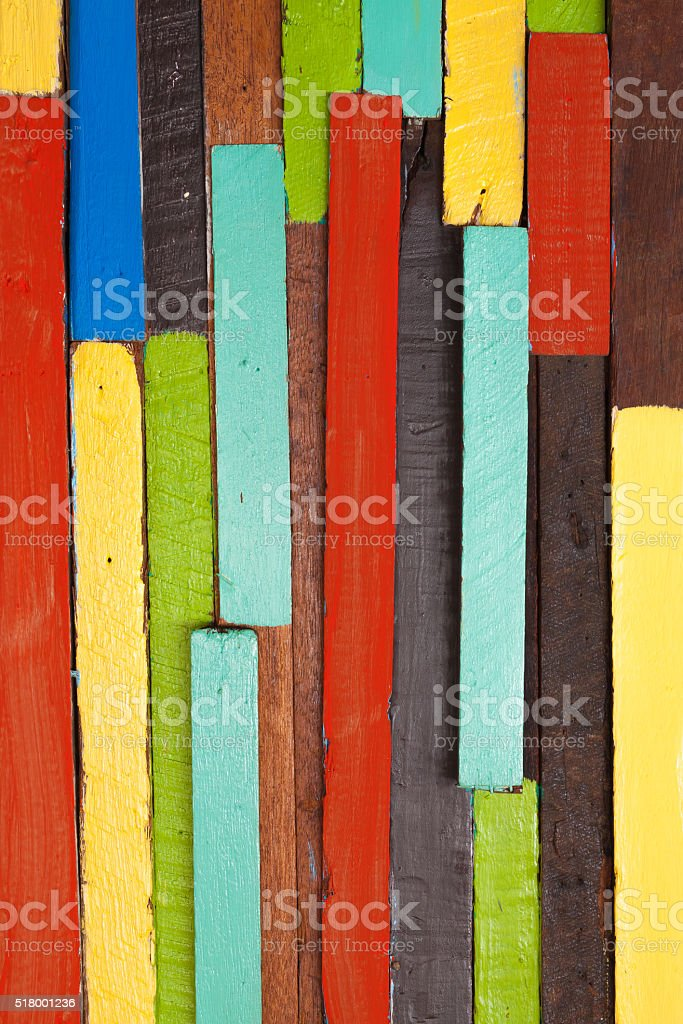 Colorful wooden wall royalty-free stock photo