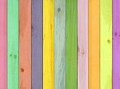 colorful wood/plank material wall