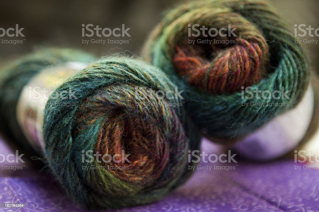 Colorful wool blend yarn stock photo