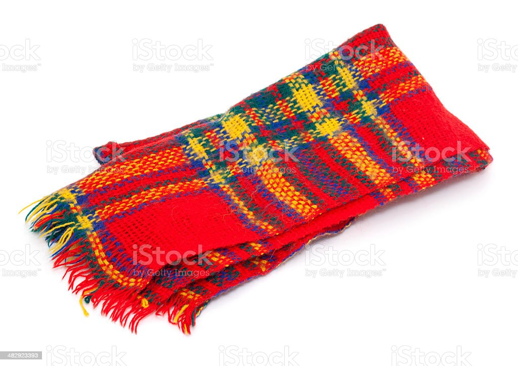 colorful wool scarf stock photo
