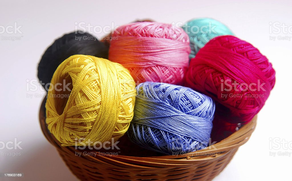 colorful wools royalty-free stock photo