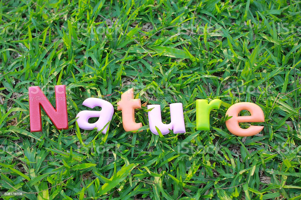 Colorful word of Nature stock photo