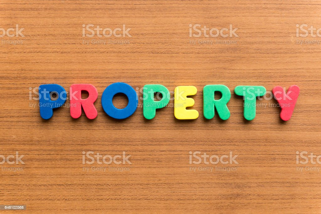 colorful word on the wooden background stock photo