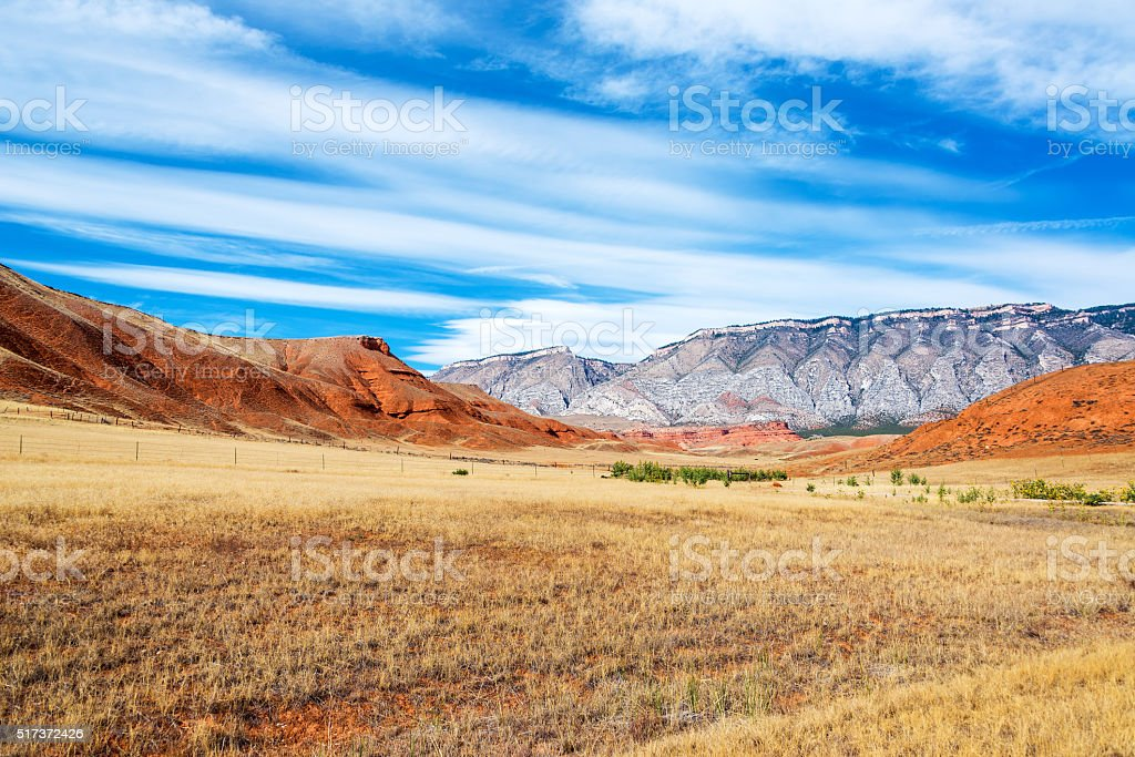 Colorful Wyoming Landscape stock photo