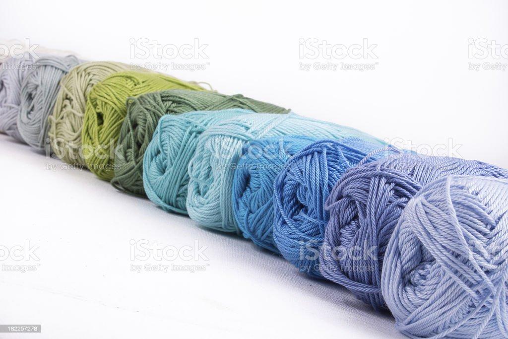 colorful yarn isolated on white background royalty-free stock photo