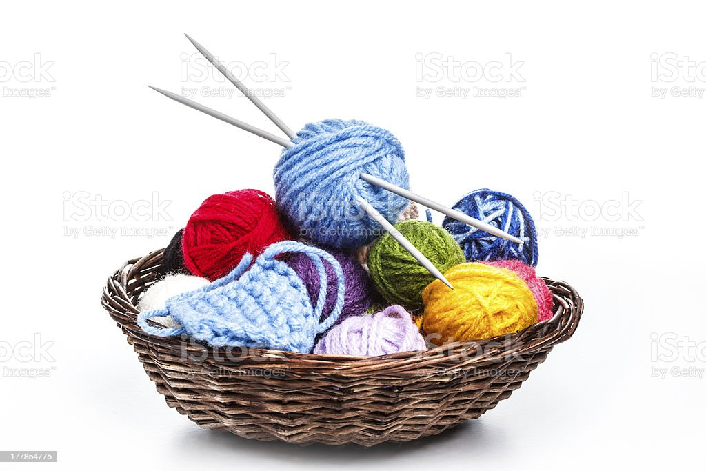 Colorful yarn royalty-free stock photo