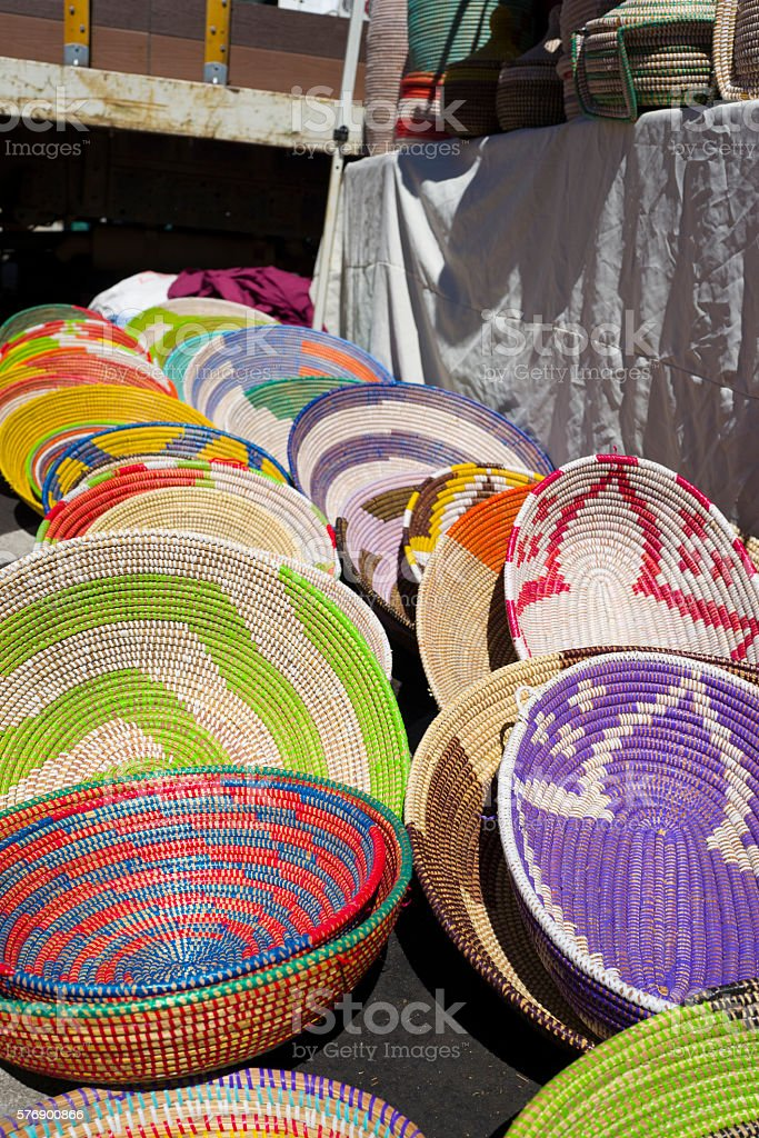 Colorfull Baskets stock photo